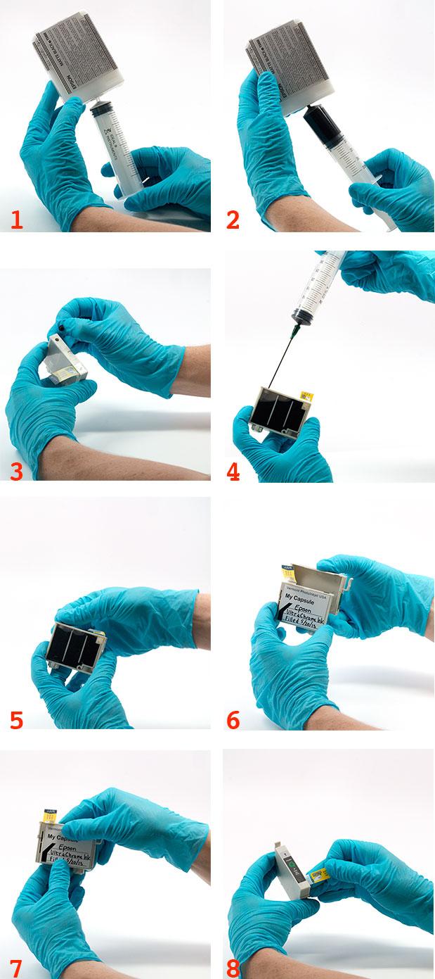 Repair a faulty cartridge or reclaim ink.